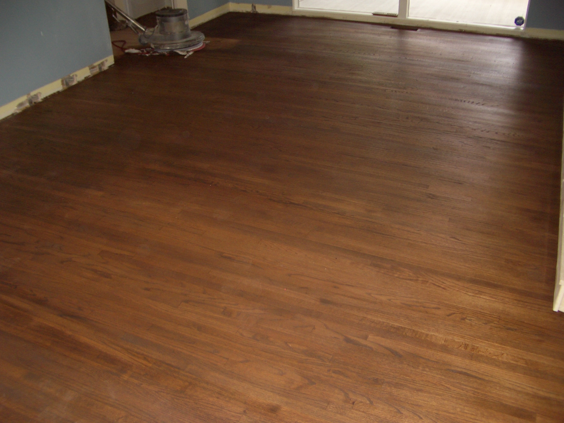 Oak hardwood floor refinishing