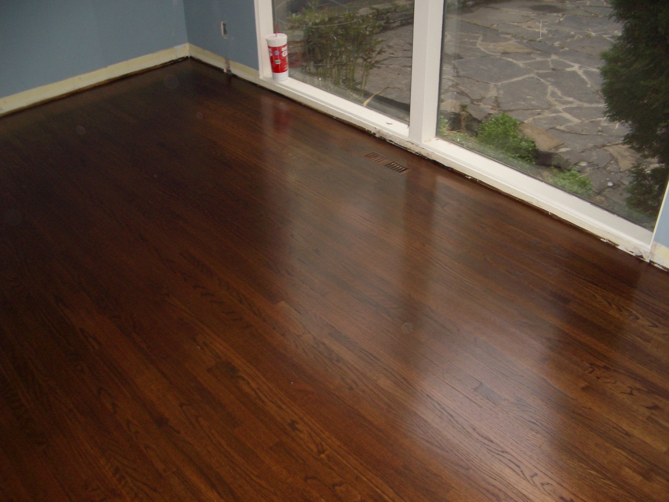 Custom Oak hardwood floor refinishing