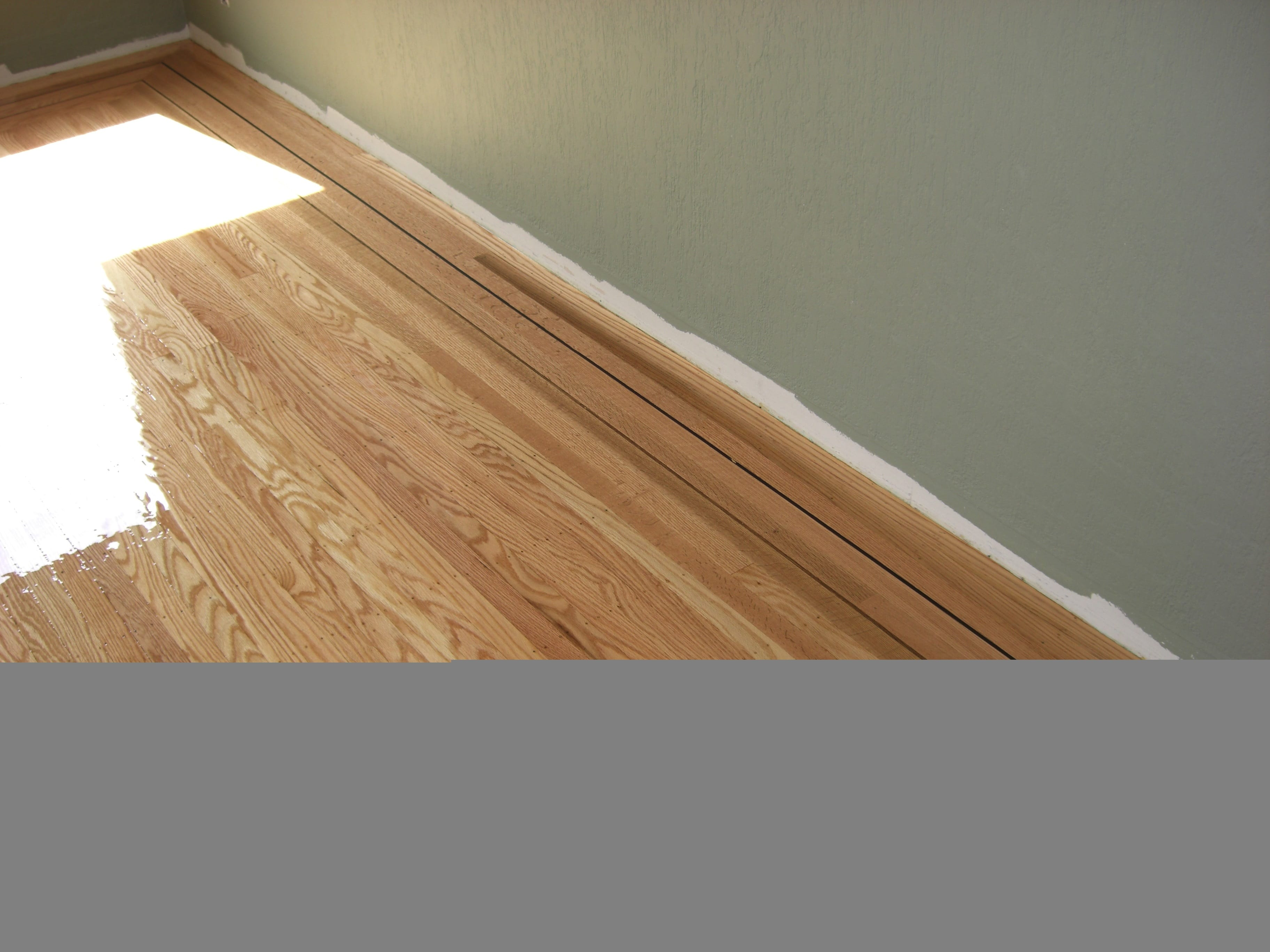 Top-nailed hardwood floor refinished