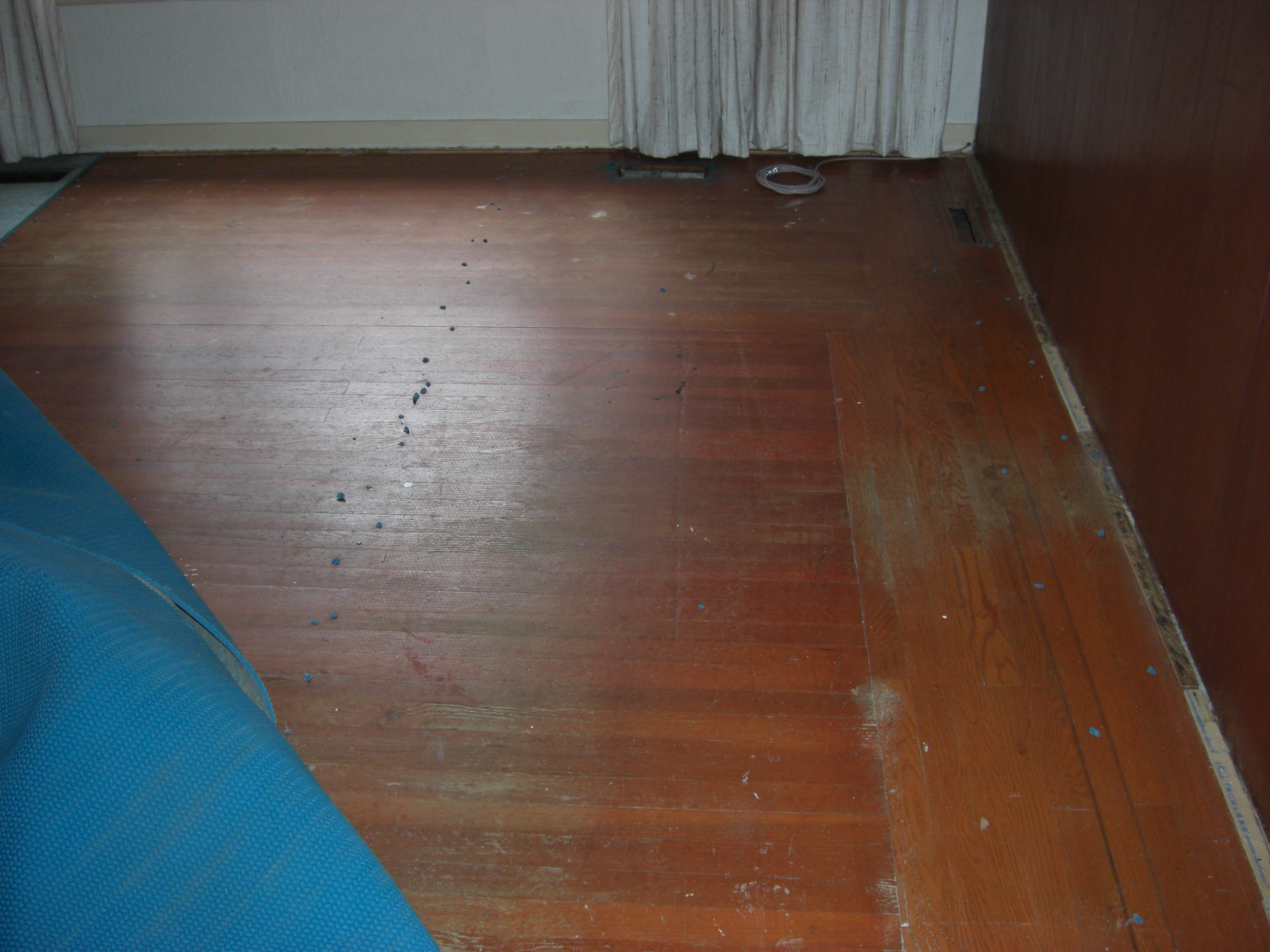 Uncovered Oak floor 2